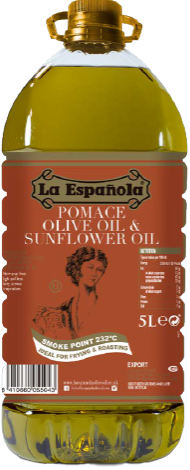 Pomace olive oil and sunflower oil bottle