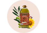 La Española Pomace Oil and Sunflower Oil bottle miniature